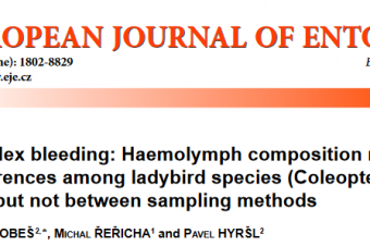 Puncture vs. reflex bleeding: Haemolymph composition reveals significant differences among ladybird species (Coleoptera: Coccinellidae), but not between sampling methods