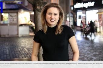 Rozhovor s Kateřinou Kudličkovou o Středoškolské odborné činnosti a organizaci Konference českých nadějí