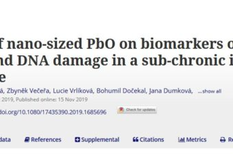 The effects of nano-sized PbO on biomarkers of membrane disruption and DNA damage in a sub-chronic inhalation study on mice
