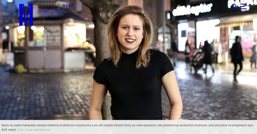 Interview with Kacka Kudlickova in Magazine M