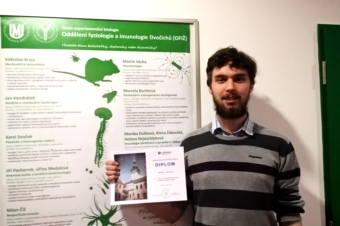 Martin Zavřel has won the 1st place in biology category of SOC contest in South Moravian Region!