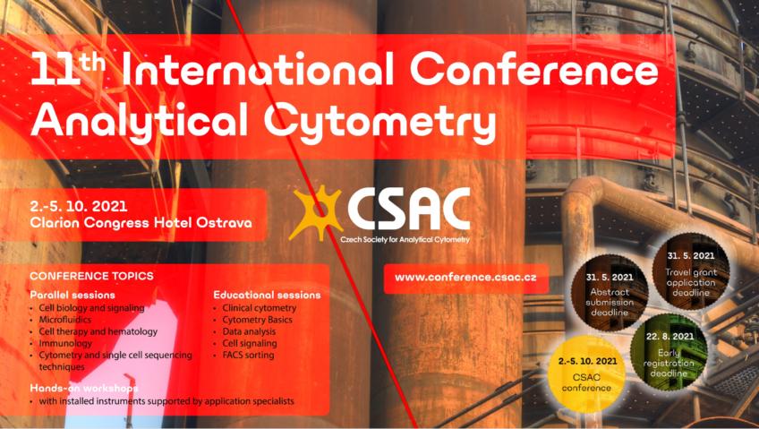 Pozvánka na konferenci: 11th International Conference Analytical Cytometry