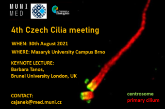 Invitation: 4th Czech Cilia Meeting, 30. 8. 2021