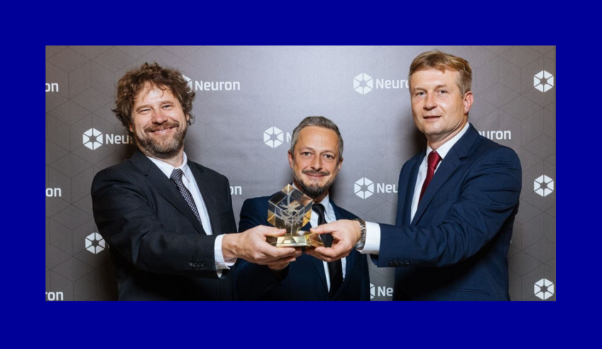 Ocenění NF Neuron za mimořádné propojení vědy a byznysu pro Vítězslava Bryju, Kamila Parucha & Radoslava Trautmanna